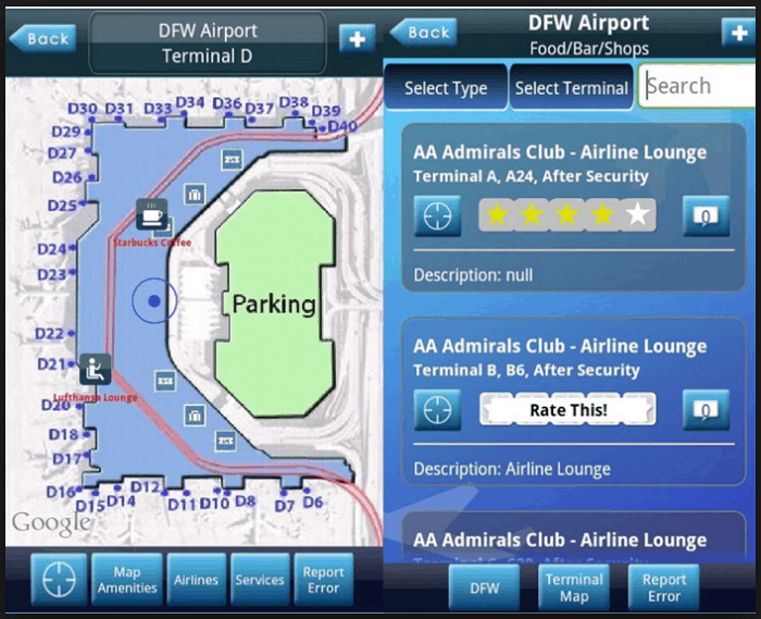 iFly Airport Guide app