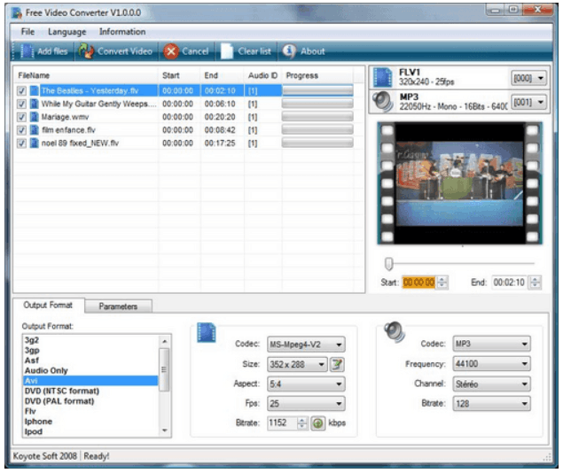 Koyote Free Video Converter