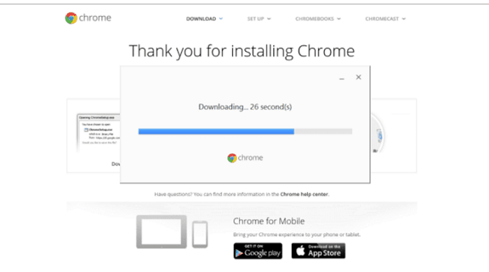 Reinstall Chrome Application
