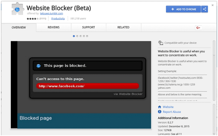 Website Blocker (Beta)