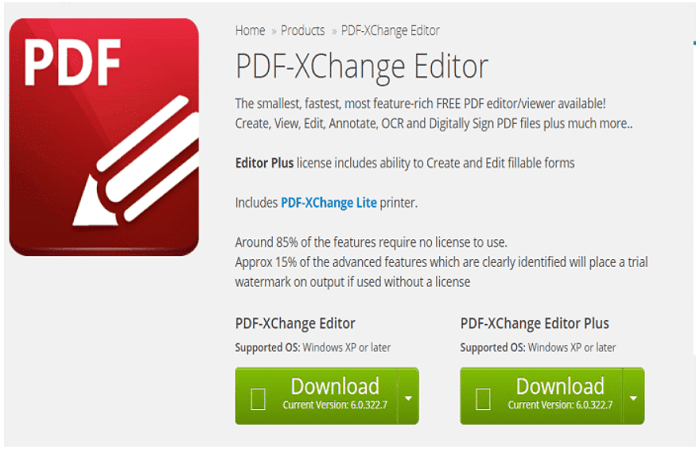 Best PDF Editing software - PDF-Xchanger Editor