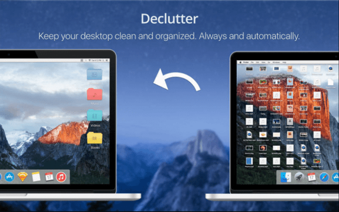 Declutter desktop on MAC