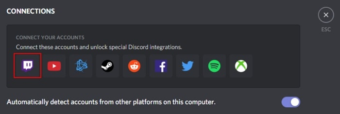 link discord and twitch