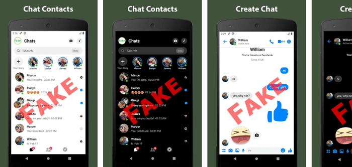 chat conversations- spoof texting app