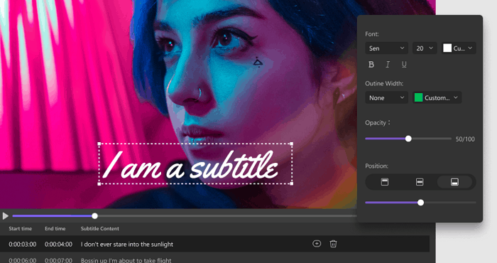 customize subtitles for better viewing