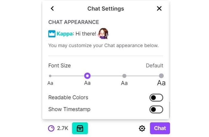 Increasing the Font Size of the Twitch Chat